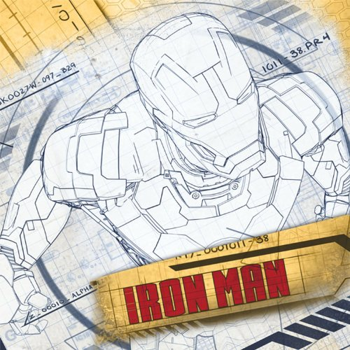 Iron Man Party Supplies - Iron Man Lunch Napkins - 16 Count