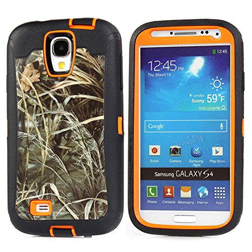 Galaxy s4 Case - KeckoTM Defender Natural Realtree Camo Military Grade Shatterproof Triple Layer High Impact Hybrid Combo Protective Case in screen Tough Armor Shock Absorbent Dirtproof Heavy Duty Rugged Hunting Tree Camoflauge Branch on the Core Series Case For Samsung Galaxy S4 SIV I9500not for S4 active S4 MINI