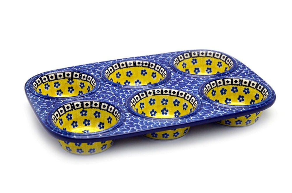Polish Pottery Muffin Pan - Sunburst soft gallery комбинезон soft gallery модель 27658323
