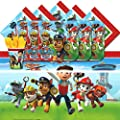 Paw Patrol Puppy Pet Children Birthday Complete Party Tableware Pack For 16