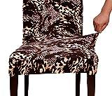 TIKAMI-Housse-de-chaise-lastique-Couverture-de-chaise-Stretch-avec-lImpression-6-PCS-Impression-lopard