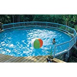24-Inch Resin Above-Ground Pool Fence Kit -White- Base Kit A (8 sections)