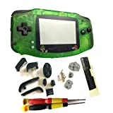Hot Sale Multi-Color Plastic Limited Pokemon Screen Lens DIY Black Color Housing Case For Gameboy Advance GBA Shell Complete Housing Case Shell Boy Advance (TRANSPRENT GREEN P3)