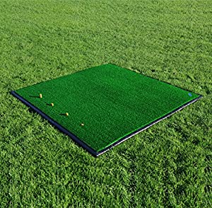 FORB Driving Range Golf Practice Mat (5ft x 5ft) (Optional anti-skid rubber base) - Practice Like The Pros With This Fairway Stance And Hitting Mat [Net World Sports]