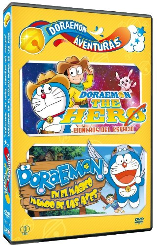 映画ドラえもん 新・のび太の宇宙開拓史+のび太と翼の勇者たち(スペイン語) dvd / Pack Doraemon Aventuras: The Hero + El Mágico Mundo De Las Aves[import]
