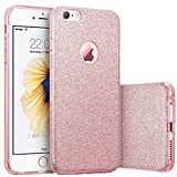 iPhone6s ケース Imikoko iPhone6 ケース おしゃれ シリコン TPUソフト バンパー 耐衝撃 キラキラしたラメ入り 女の子に対応 iPhone6/ iPhone6s カバー  新年プレゼント クリスマスギフトケース(Rose Gold)