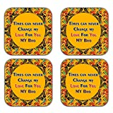 MeSleep Abstract Rakhi Wooden Coaster-Set Of 4 - B013LEI9OA