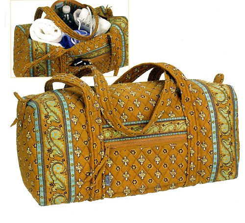 Maggi B French Country Desert Sand Quilted Cotton Gym Tote - Fall 2007 #MB02929
