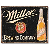 Miller Brewing Vintage Tin Sign , 16×12