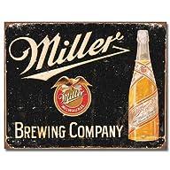 Miller Brewing Vintage Tin Sign , 16×12