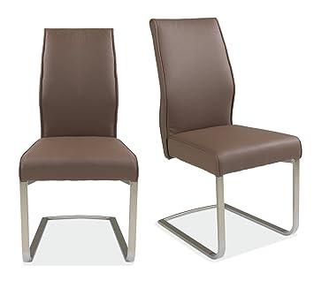 freischwinger schwingstuhl braun kunstleder funda 1 us157. Black Bedroom Furniture Sets. Home Design Ideas