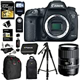 Canon EOS 7D Mark II Digital SLR Camera + Tamron AFB016C700 16-300 F 3.5-6.3 Di II VC PZD Macro IS Lens + Lexar 64GB Memory Card + Flash + Battery + Ritz Gear Bag + Polaroid Tripod + Accessory Bundle