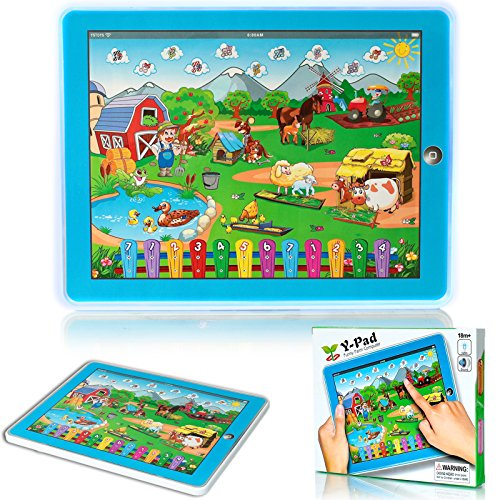 DURHERM Farm Tablet Learning Education Machine Toy Gift for Kids Children Blue NEW