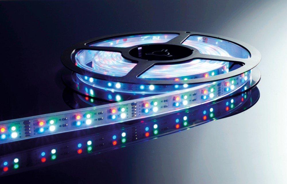 KapegoLED Flexibler LED Stripe, 3528, SMD, RGB und, 12 V DC, 57,50 W, kaltweiß 840051