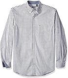IZOD Mens Big and Tall Long Sleeve Essential Tattersal Shirt