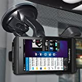 Amzer AMZ95679 Suction Cup Mount Holder for Windshield, Dash/Console for BlackBerry Z10 (Fits All Carriers) - Retail Packaging - Black