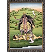 Exotic India Mahavidya Kali - Water Color Painting On Paper - Artist: Kailash Raj
