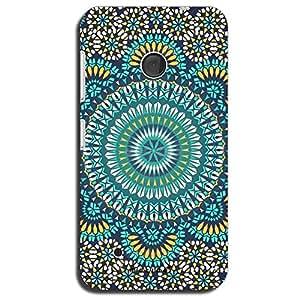 Mozine Blue Chakra Pattern printed mobile back cover for Nokia lumia 530
