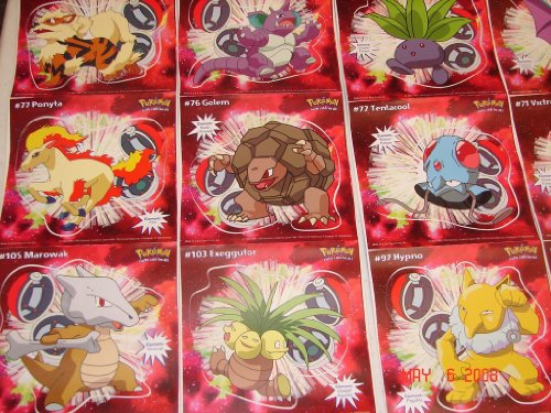 Pokemon Collect-em Stick-ups Series C Peel and Stick Anywhere 35 Included