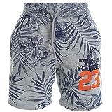 Jungen Kinder Cargo Kurze Hose Bermuda Shorts Capri Vintage Sport Strech 20385, Farbe:Grau;Größe:128