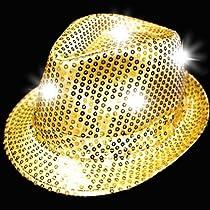 Supreme Party & Novelties LED Fedora, Gold