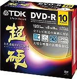 TDK 録画用DVD-R CPRM対応 16倍速対応 ホワイトワイドプリンタブル キズや指紋ヨゴレに強いスーパーハードコート・ディスク 「超硬」シリーズ 10枚パック DR120HCDPWC10A