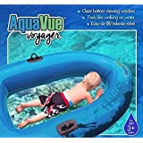 Sieco Design AQUAVUE Voyager, Clear Bottom Inflatable Raft, for Kids and Adults (Color: Blue)