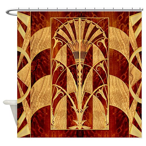 CafePress - Harvest Moon's Art Deco Panel - Decorative Fabric Shower Curtain (Art Deco Shower Curtain compare prices)