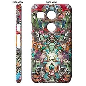 TGK Canvas Multicolor Abstract - 1 Back Cover Case for LG Google Nexus 5X - Multicolor