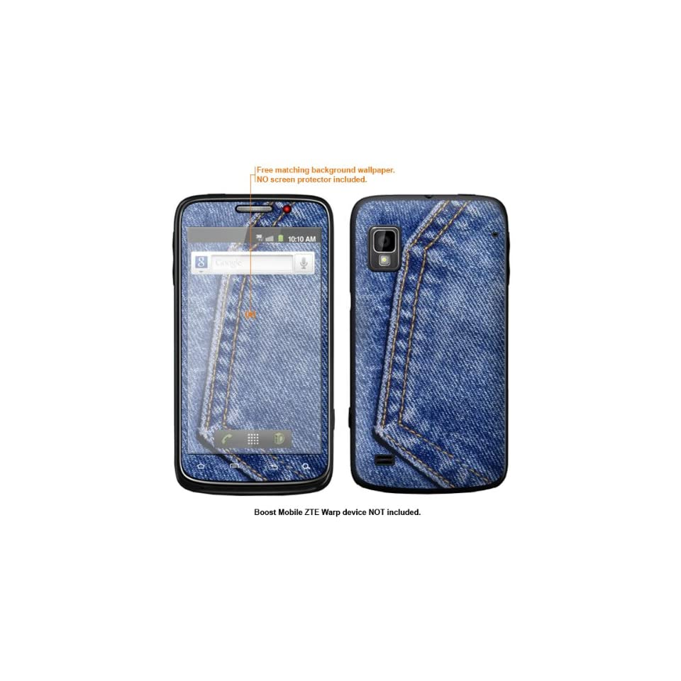 Protective Decal Skin Sticker for ZTE Warp  Boost Mobile