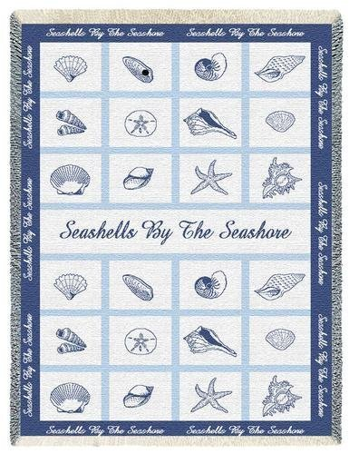 Seashell Throw Blanket front-1031425
