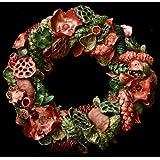Exotic Creations Meta-Grassy - Dried flower wreath(L=40 cm X W=40 cm X D= 40 cm)