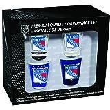 NHL New York Rangers Shot Glass Collector Set (4-Piece), 2-Ounce, Clear