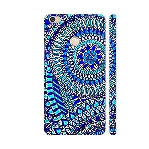 Colorpur Chroma Blue Zentangle Artwork On Xiaomi Mi Max Cover (Designer Mobile Back Case)   Artist: Prerika Arora