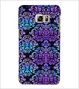 PrintDhaba Floral Design D-2059 Back Case Cover for SAMSUNG GALAXY NOTE 5 EDGE (Multi-Coloured)