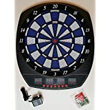 PERFORMANZ PRO Series LCD Display Electronic Dart Dartboard Set W/ 6 Soft Tip Darts