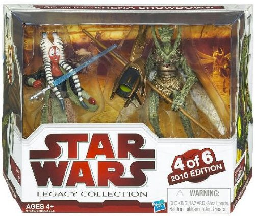 Star Wars 2010 Exclusive Geonosis Arena Showdown Action Figure 2Pack Shaak Ti Genosian Warrior #4 of 6 пижама chicco chicco ch001ebatax7