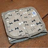 【日本製】よだれカバー2枚組 リボン(グレー) かわいい赤ちゃんも喜ぶ肌に優しい 安心 だっこひも・チャイルドシート・ベビーカーのベルトカバー 綿 おしゃれ エルゴで使えるよだれパッド 厚み mail ランキングお取り寄せ
