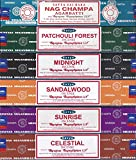 Satya - Set of 6 - Nag Champa, Sunrise, Sandalwood, Midnight, Patchouli, Celestial 15 grams