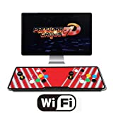HAAMIIQII 3D Pandora Games Arcade Game Console - 2448 Games Installed, WiFi Function, Support 3D Games, Search/Save/Hide/Delete/Add Games, 1280x720 Full HD, Favorite List, 4 Players Online Game (Color: 2448-wifi-red)