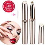 Eyebrow Trimmer for Women Eyebrow Hair Remover Electric Eyebrow Trimmer Epilator for Women (Battery Not Include) Rose Gold (Color: Rose Gold, Tamaño: Onesize)