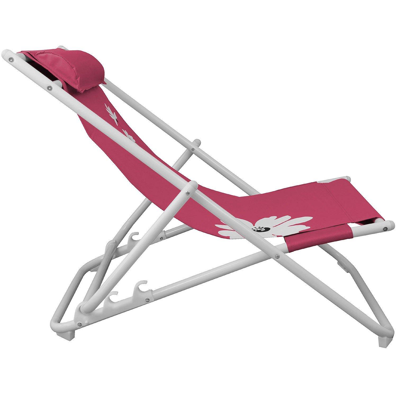 Strandliege Strandstuhl Liegestuhl Campingstuhl Gartenstuhl Faltstuhl Sonnenliege Campingmöbel Gartenmöbel klappbar – Pink kaufen