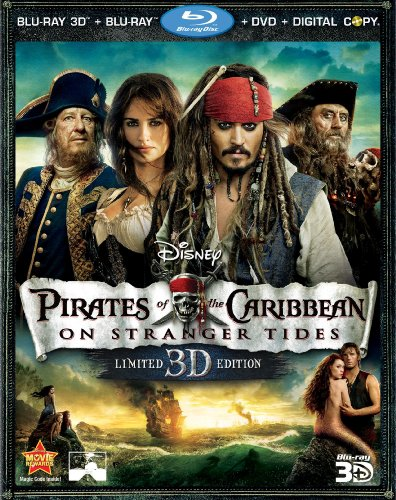 Cover art for  Pirates of the Caribbean: On Stranger Tides (Five-Disc Combo: Blu-ray 3D / Blu-ray / DVD / Digital Copy)