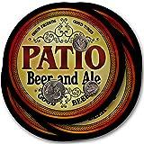 Patio Beer & Ale - 4 pack Drink Coasters