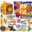 The Original Retro Sweets Gift Cube Box From Dandy Candy - The Perfect Gift For Everyone: Includes 70 Retro Sweets From Your Childhood Memories - Great Stocking Filler or Christmas Gift