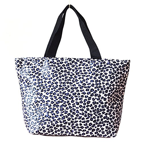 Sealike Leopard Pattern Picnic Lunch Bag Tote Bag Handbag Lunch Organizer for Women Girls with Stylus - 1