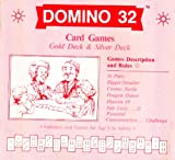 img - for DOMINO 32 Card Games: Description & Rules with 7 Rainbow-color Dragon Dances (Pai Gow, Tien Gow, Bagchen...related) book / textbook / text book