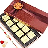 Rakhi Gifts Sweets- Small Brown 10 Pc Mewa Bite Box-r2