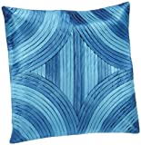 Shahenaz Home Shop Kyrah Diamond Saga Poly Dupion Cushion Cover - Turquoise