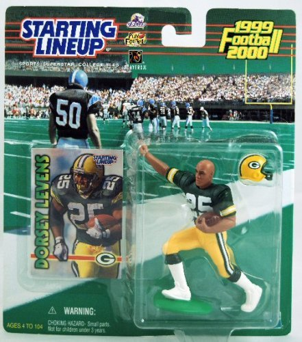 1 X Starting Lineup - 1999 - Dorsey Levens - Green Bay Packers - NFL by Kenner